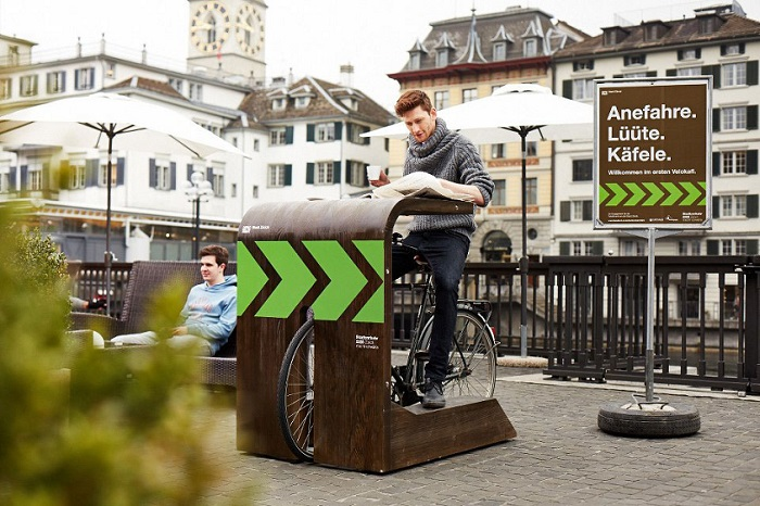 Velokafi: um drive-in cafeinado para ciclistas em Zurique