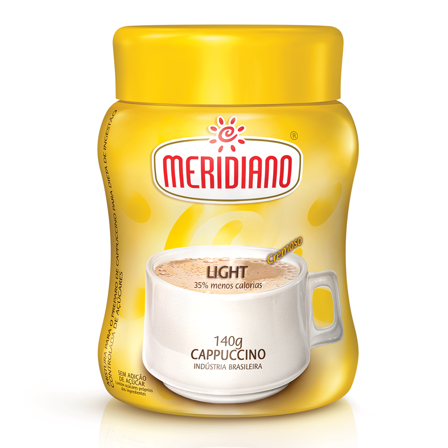 Cappuccino Meridiano Light tem menos 35% calorias