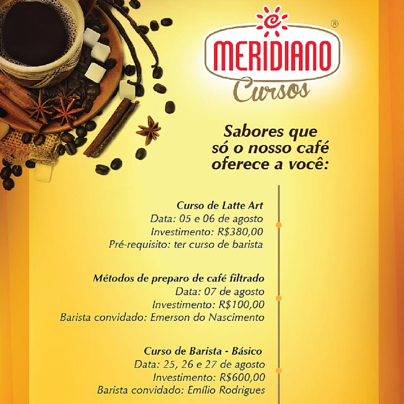 Abertas as inscrições para os cursos de Barista, LatteArt e Métodos de preparo de Café Filtrado