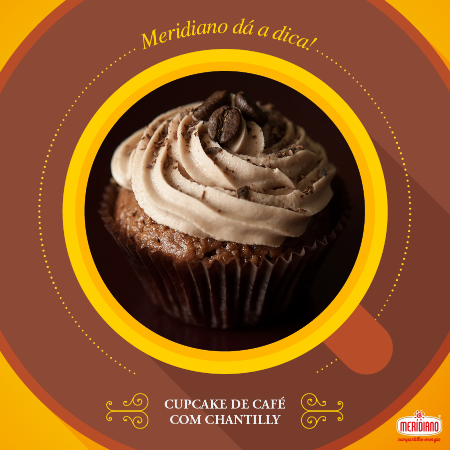 Cupcake de Café com Chantily