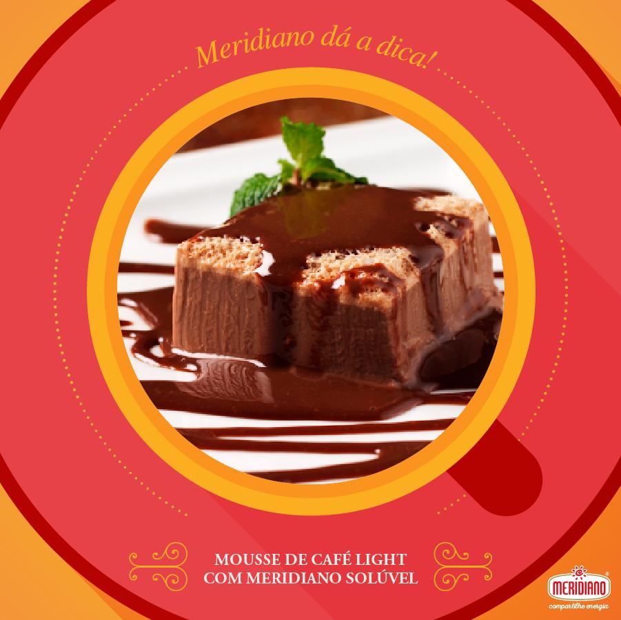 Mousse de Café Light com Meridiano Solúvel