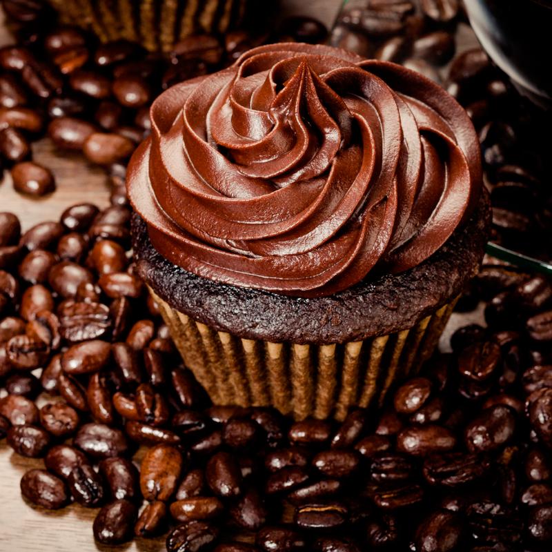 Receita de cupcake de chocolate com recheio de creme de café
