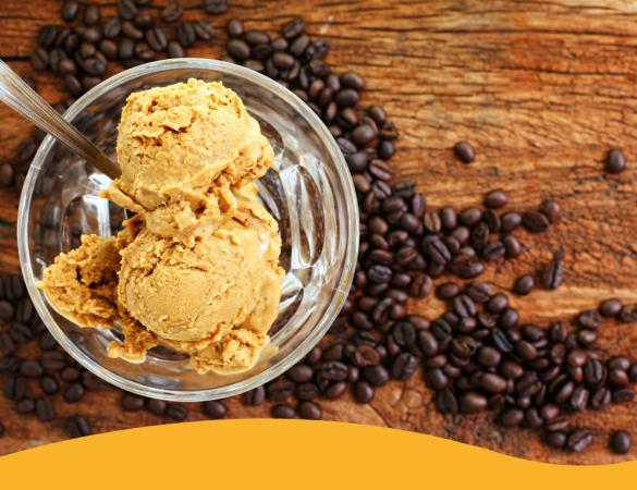 Sorvete de café, uma receita cheia de energia!