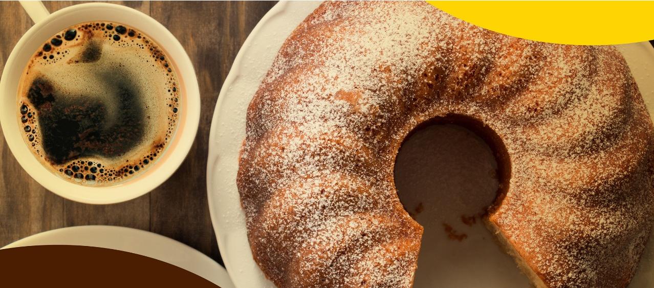 bolo e café