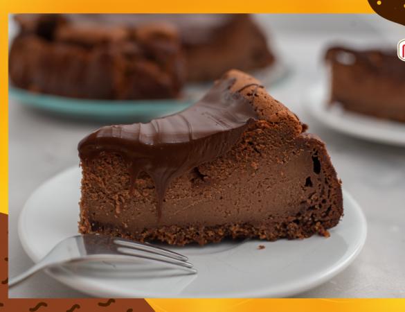 Aprenda a fazer cheesecake de café e chocolate